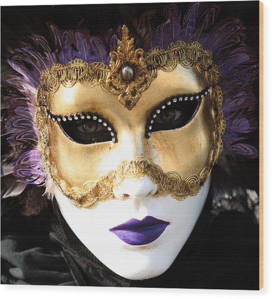 Gunilla Maria's Purple Feathers Wood Print