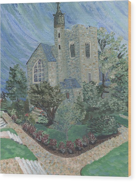 Gunnison Chapel In The Last Days Of Summer Wood Print