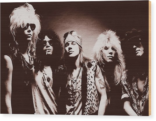 Guns N' Roses - Band Portrait 02 Wood Print