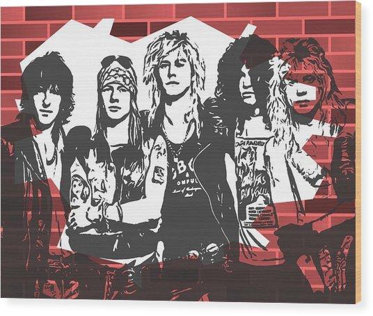 Guns N Roses Graffiti Tribute Wood Print