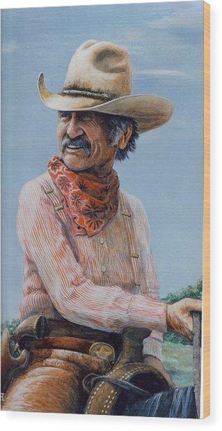 Gus Wood Print by Lee Bowerman