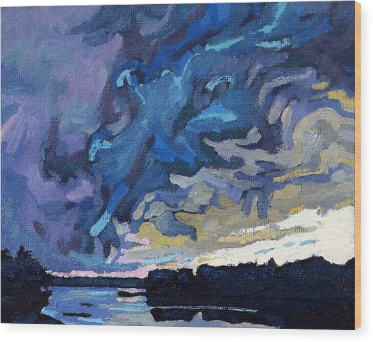 Gust Front Wood Print