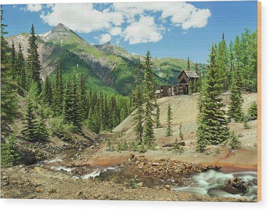 Gustan Mine Wood Print
