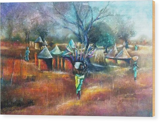 Gwari Village In Abuja Nigeria Wood Print