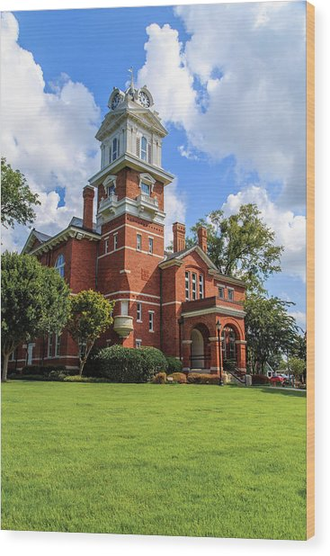 Gwinnett County Historic Courthouse Wood Print