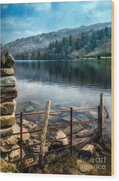 Gwynant Lake Wood Print