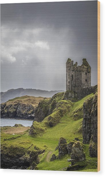 Gylen Castle On Kerrera In Scotland Wood Print
