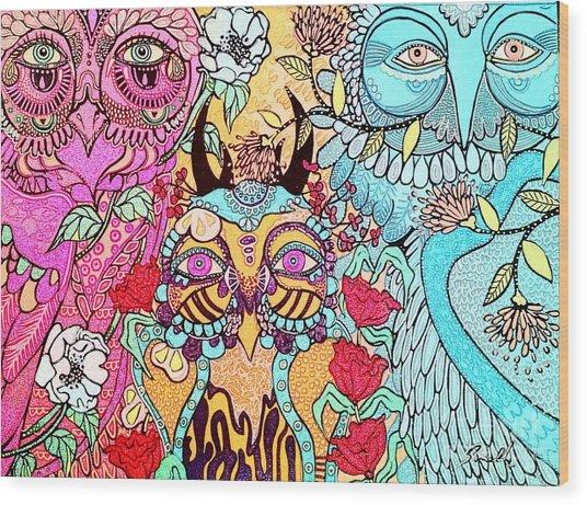 Gypsy Owl Wood Print