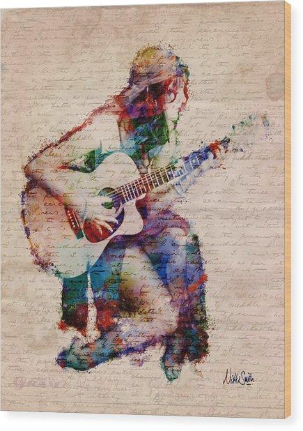 Wood Print featuring the digital art Gypsy Serenade by Nikki Smith