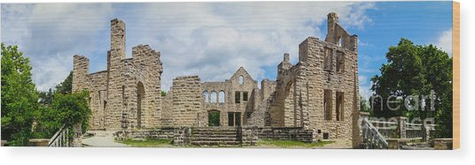 Ha Ha Tonka Castle Panorama Wood Print