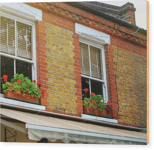 Hackney Row Wood Print by JAMART Photography
