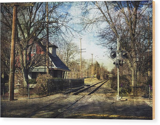 Haddon Heights Train Station Wood Print