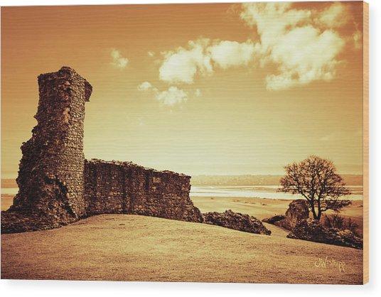 Hadleigh Castle Wood Print