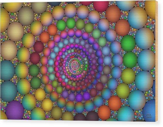 Hadron Formation Wood Print