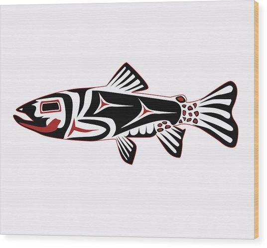 Haida Trout Wood Print