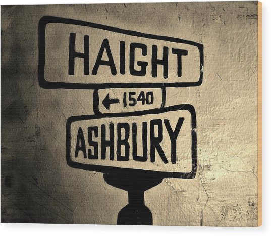 Haight Ashbury Wood Print