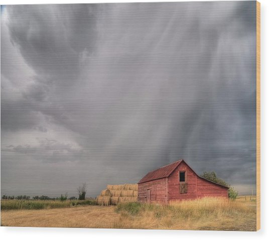 Hail Shaft And Montana Barn Wood Print