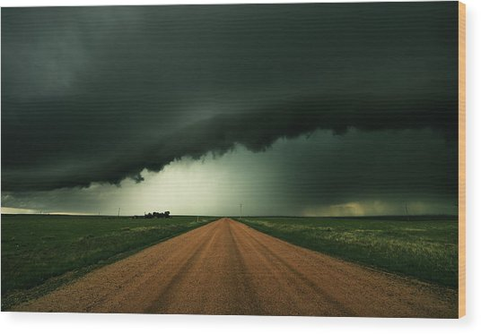Hail Shaft Wood Print