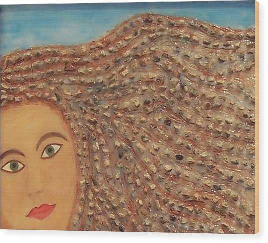 Hair Wood Print by Anneliese Fritts