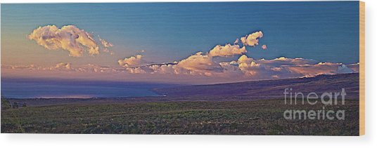 Haleakala In Sunset Clouds Wood Print