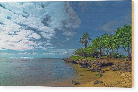 Haleiwa Beach Wood Print by Bob Juarez