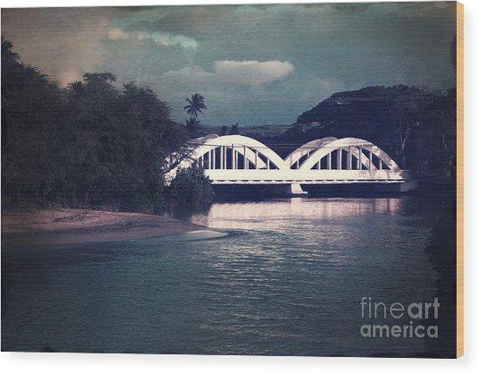 Haleiwa Bridge Wood Print