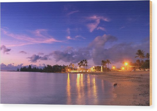 Hale'iwa Evening Wood Print