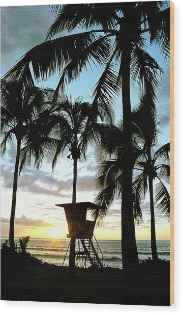 Haleiwa Sunset Wood Print