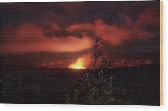 Halemaumau Crater Wood Print