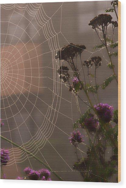 Half A Web Wood Print