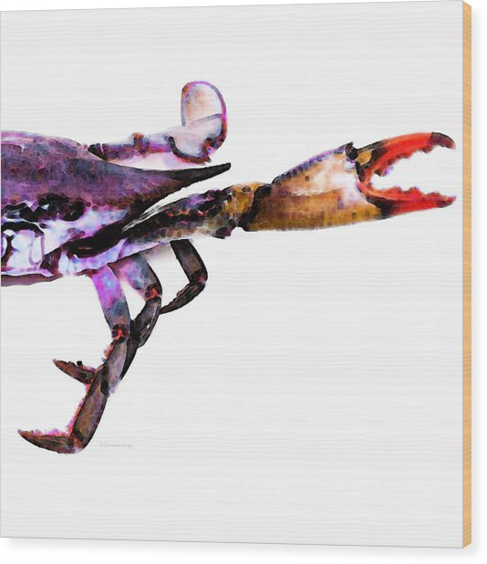 Half Crab - The Right Side Wood Print
