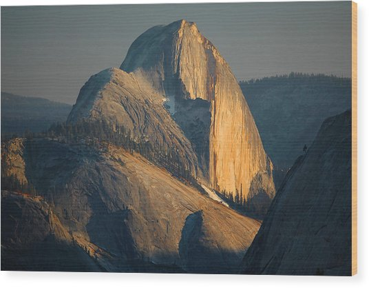 Half Dome At Sunset - Yosemite Wood Print