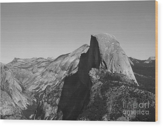 Half Dome From Glacier Point Wood Print by Richard Verkuyl