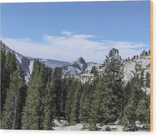 Half Dome From Olmstead Point Yosemite Valley Yosemite National Park Wood Print