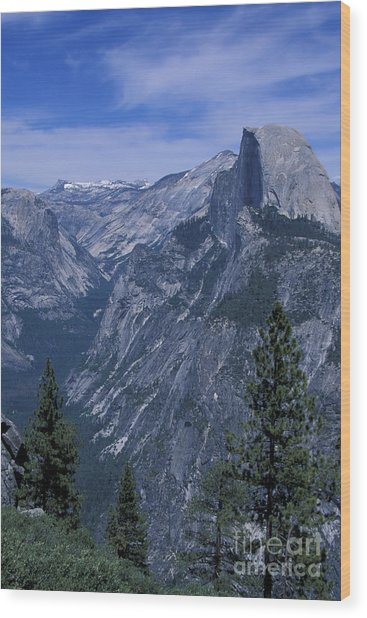 Half Dome From Washburn Point Wood Print by Stan and Anne Foster