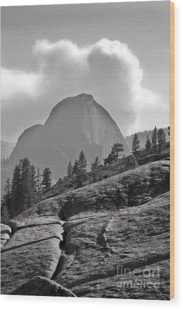 Half Dome Wood Print by Richard Verkuyl