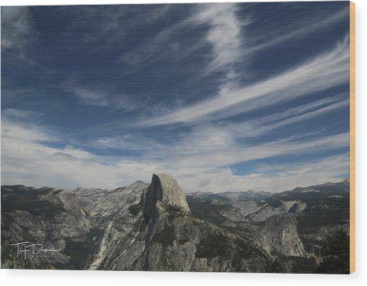 Half Dome Sky Wood Print