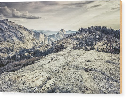 Half Dome View Wood Print