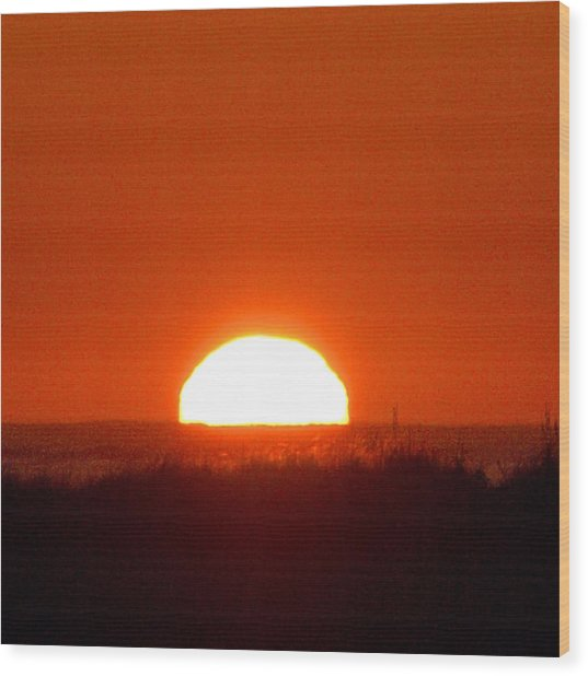 Half Sun Wood Print