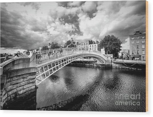 Halfpenny Bridge Wood Print