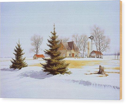 Halfway Into January Wood Print by Conrad Mieschke