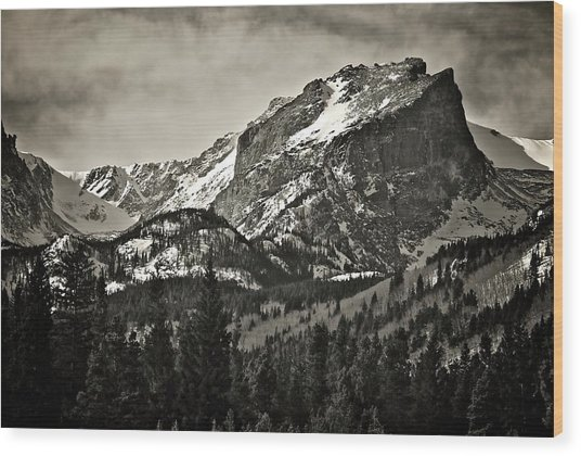 Hallet Peak, Rocky Mountain National Park Wood Print