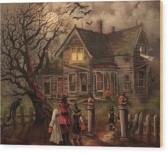 Halloween Dare Wood Print