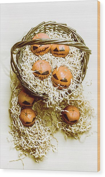 Halloween Food Decoration Wood Print