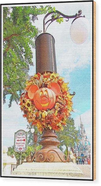 Halloween In Walt Disney World Wood Print