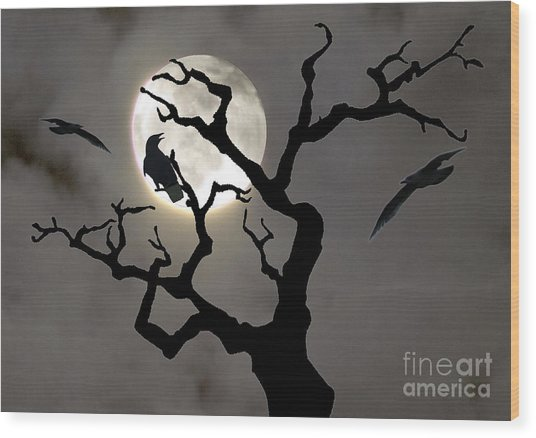 Halloween Wood Print by Jim Wright