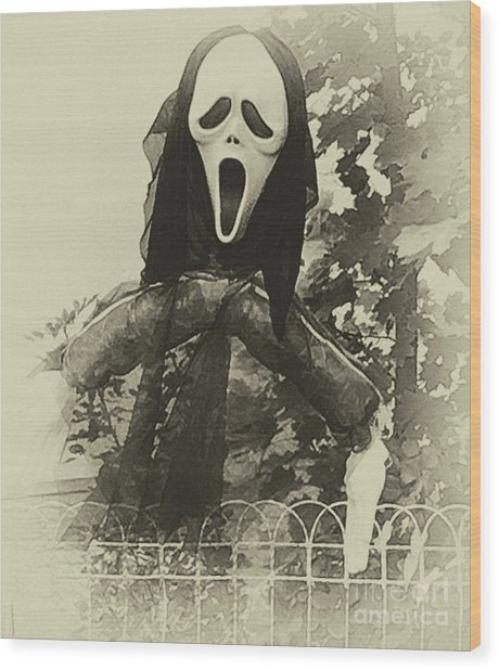 Halloween No 1 - The Scream  Wood Print