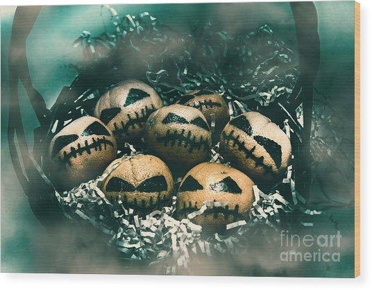 Halloween Picnic In The Dark Wood Print