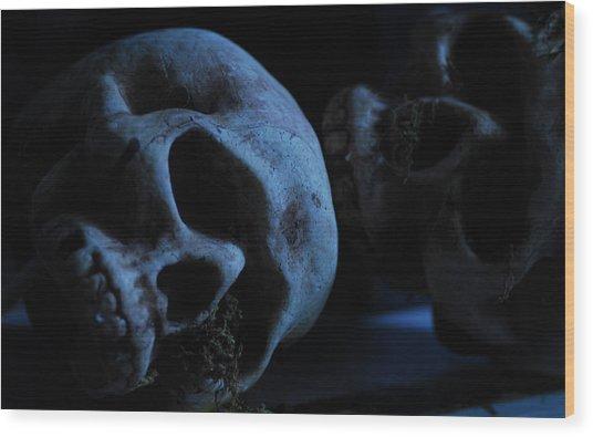 Halloween Skulls Wood Print
