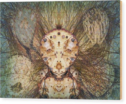 Hallucina-jim Wood Print